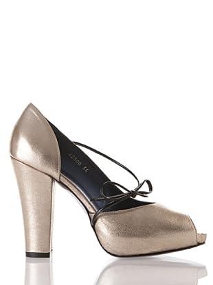 Farrutx Zapato Peeptoe (dorado)