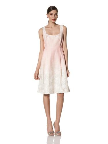 Jonathan Saunders Women's Freda Paisley Print Scoop Neck Dress (Stone/Pink)