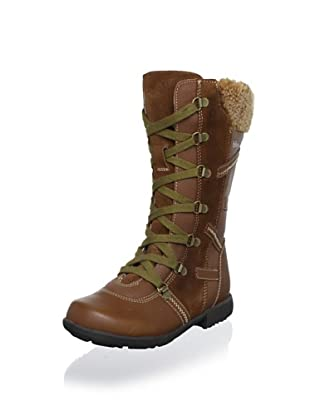 Billowy Kid's Laced Tall Boot (Tan)