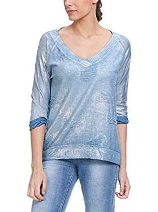 Tantra Pullover Knitted Distressed Lurex With V Neck