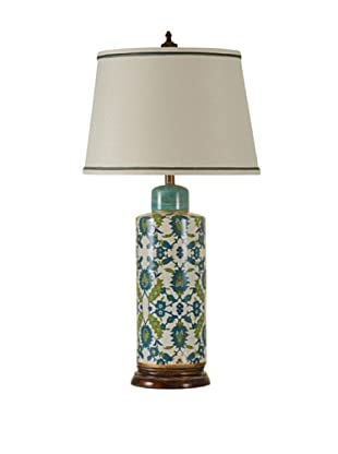 StyleCraft Hand Painted Vine Design Table Lamp
