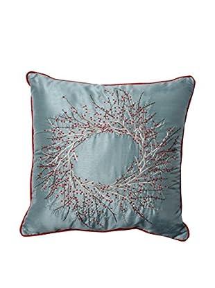 Pillow Perfect Christmas Wreath Throw Pillow