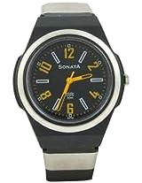 Sonata Super Fibre Analog Black Dial Unisex Watch - NC7979PP02