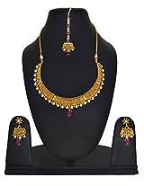 Gold Bridal Necklace Mang Tika Earring Set