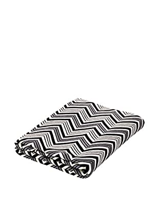 Torre & Tagus Chevron Jacquard Cotton Throw, White/Black