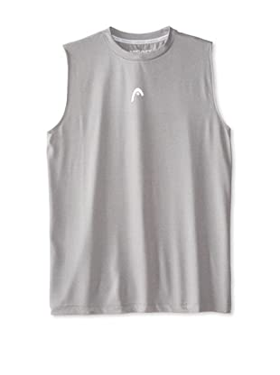HEAD Men's Sleeveless Hypertek T-Shirt (Grey Heather)