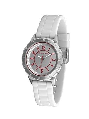 ARMAND BASI A1005L01 - Reloj de Señora movimiento de cuarzo con correa de caucho Blanca