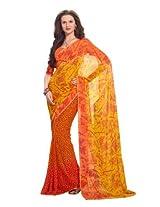 Aaliya Orange Colored Georgette Printed Saree