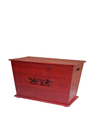 2 Day Designs Vineyard Cart Coffee Table, Rouge