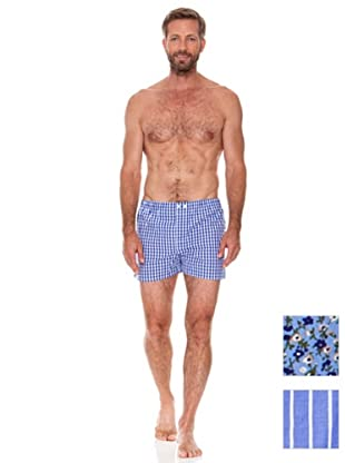 Cortefiel Boxer Pack 3 Tela (Azul)