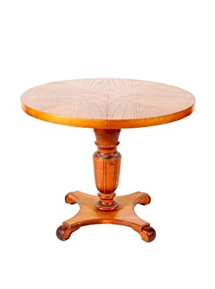 Mid-Century Modern Round Table, Tan