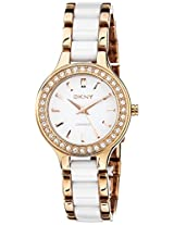 Dkny Analog White Dial Women's Watch - NY8141