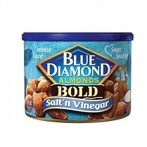 Blue Diamond Almonds - Salt & Vinegar - 170gms - Can - Blue Diamond