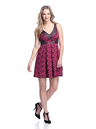 Eva Franco Women's French Kiss Dress (Fuchsia Lattice)