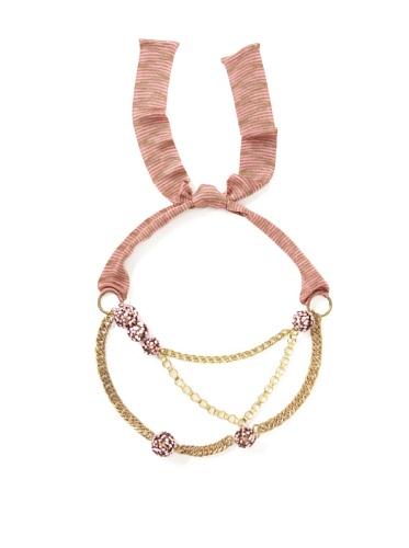 M Missoni Women's Chainlink Belt (Gold/Pink)