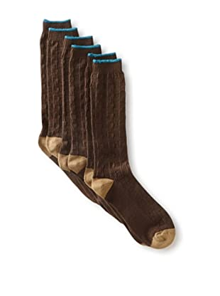 2xist Men's Weekender Basketweave Socks - 3 Pack (Brown)