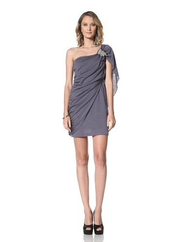 Paul & Joe Women's Yvette One Shoulder Kimona Dress (Lavendar)