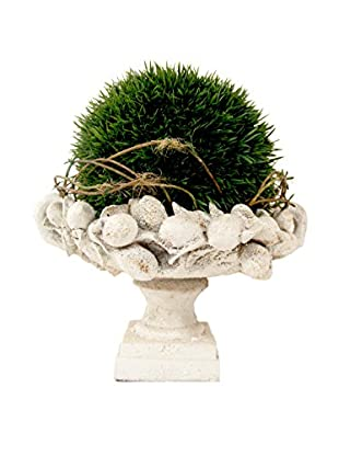 Creative Displays Grass Sphere & Vines in Ceramic Bowl, Green
