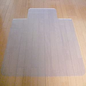 【クリックで詳細表示】【安心の日本製】 厚手2.5mmタイプ 床を保護するクリアチェアシート [122×91cm] フローリングなどの床を保護するシート キャスター付き椅子でも安心♪(A713)