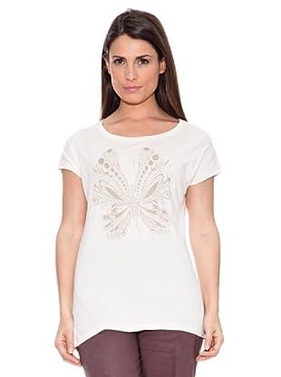 Caramelo Camiseta Amy (Blanco / Beige)