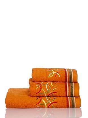 La Bruja Juego de Toallas Fedra (Naranja)