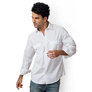 Peter England Slim Fit Solid Shirt