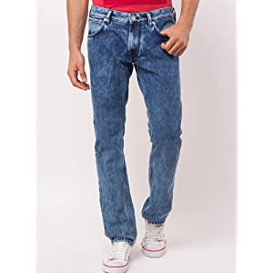 Classic Acid Wash Style Blue Jeans by French Connection for Men