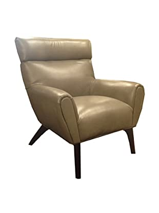 Armen Living Laguna Bonded Leather Chair, Smoke