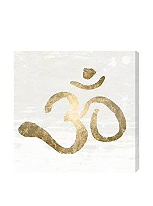 Oliver Gal 'Ohm Gold Blanc' Canvas Art