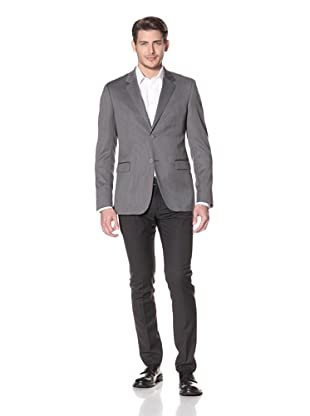 Calvin Klein Collection Men's Bowery Two Button Notch Jacket (Dark Gray)