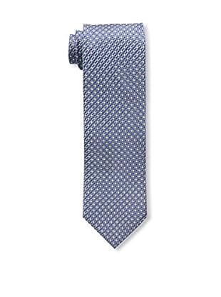 Bruno Piattelli Men's Neat Silk Tie, Blue Charcoal