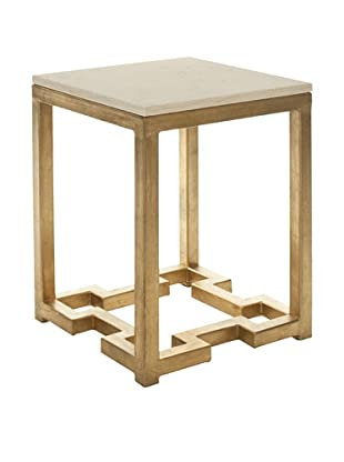 Safavieh Ray Accent Table, Ivory/Gold