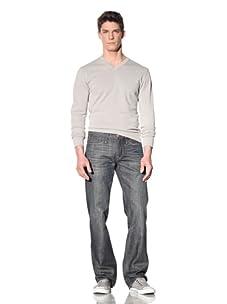 Earnest Sewn Men's Fuller Relaxed Straight Leg Jean (Maz Dark)