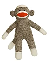12 Inch Brown Sock Monkey with Velcro Hands