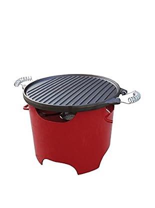 PURLINE Grill BB03 rot/schwarz