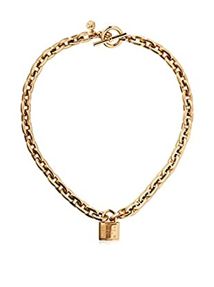 Michael Kors Gold-Tone Logo Padlock Pendant Necklace
