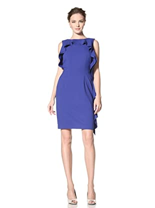 Calvin Klein Women's Sleeveless Dress with Ruffle Detail (Atlantis)