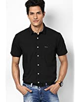 Black Solid Casual Shirt Pepe Jeans