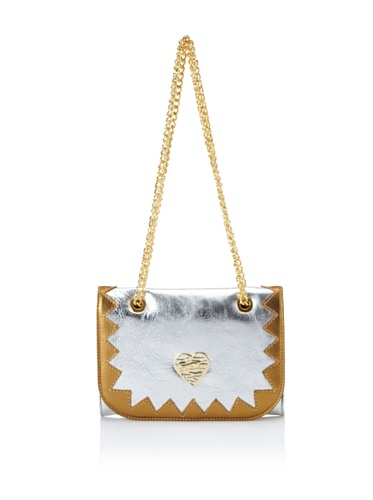 Just Cavalli Women's Metallic Pochette, Silver/Gold