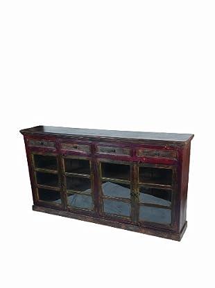 MOTI Historic 4-Glass Door & 4-Drawer Buffet