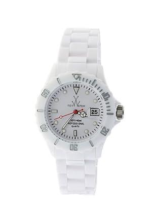 ToyWatch FL01WHRD - Reloj Unisex movimiento de Cuarzo con correa de plástico blanco