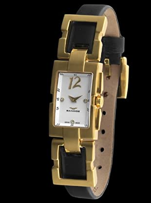 Sandoz 73504-60 - Reloj Col. Diver Unisex Rectángular negro / oro