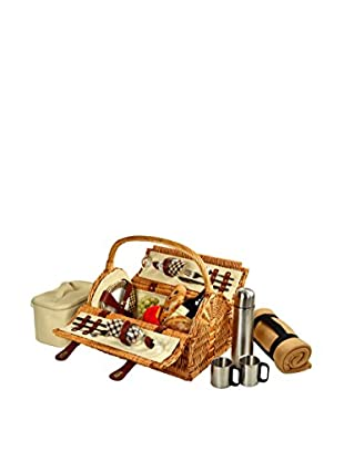 Picnic At Ascot Sussex Basket For 2 with Blanket and Coffee, London Plaid