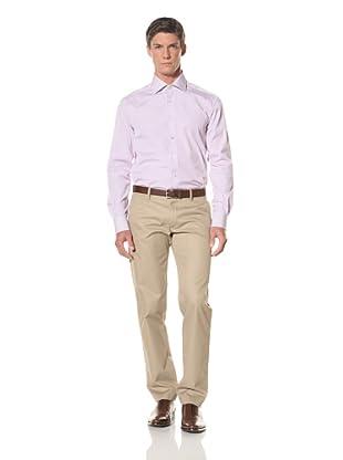 De Corato Men's Dress Shirt (Purple Stripe)