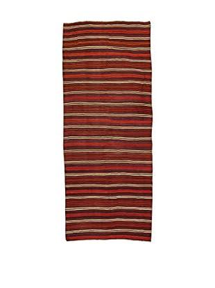 Design Community By Loomier Teppich Kilim Caucasico rot 130 x 317 cm