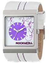 Rockwell Rockwell Time Unisex Mc120 Mercedes White Leather And Purple Watch - Mc120