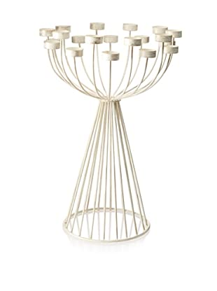 The HomePort Collections Countess Tealight Candelabra (White)