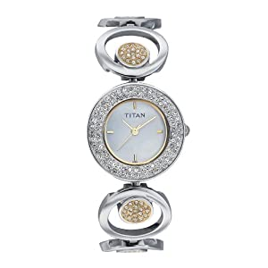 Titan Analog  Mother of Pearl Dial Women's Watch - NC9846BM01