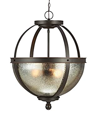 Seagull Lighting Sfera 2-Light Semi-Flush Convertible Pendant, Autumn Bronze