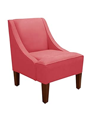 Skyline Swoop Arm Chair, Coral
